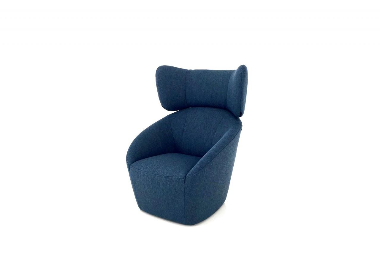 freistil 178 ROLF BENZ Hochlehn-Sessel in Stoff blau oder 20 anderen Farben wählbar