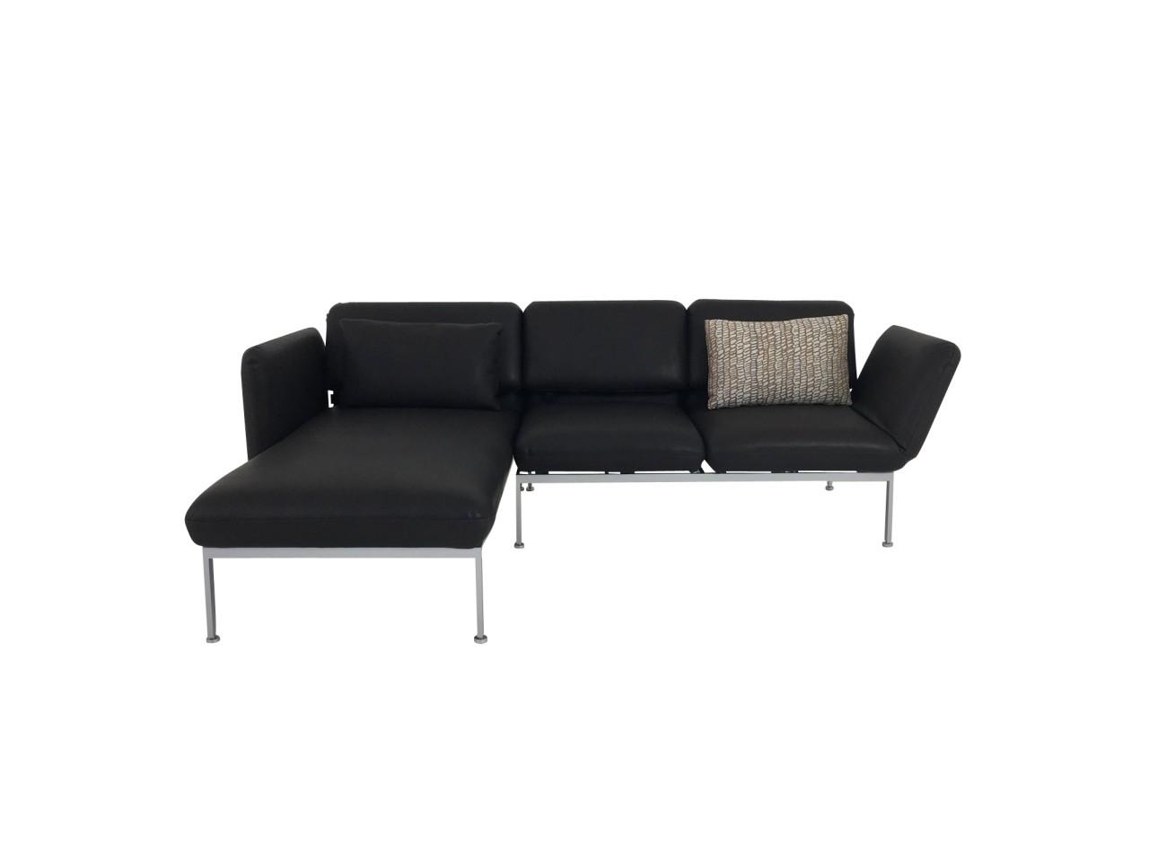 Faszinierend Sofa Mit Recamiere Beste Wahl Brühl Roro Small In Leder Oliva Dunkelbraun