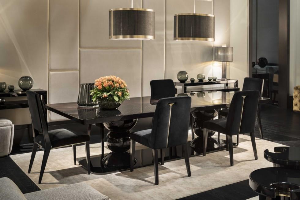 FENDI CASA DINING mit Leonardo Esstisch und Stardust Stühlen