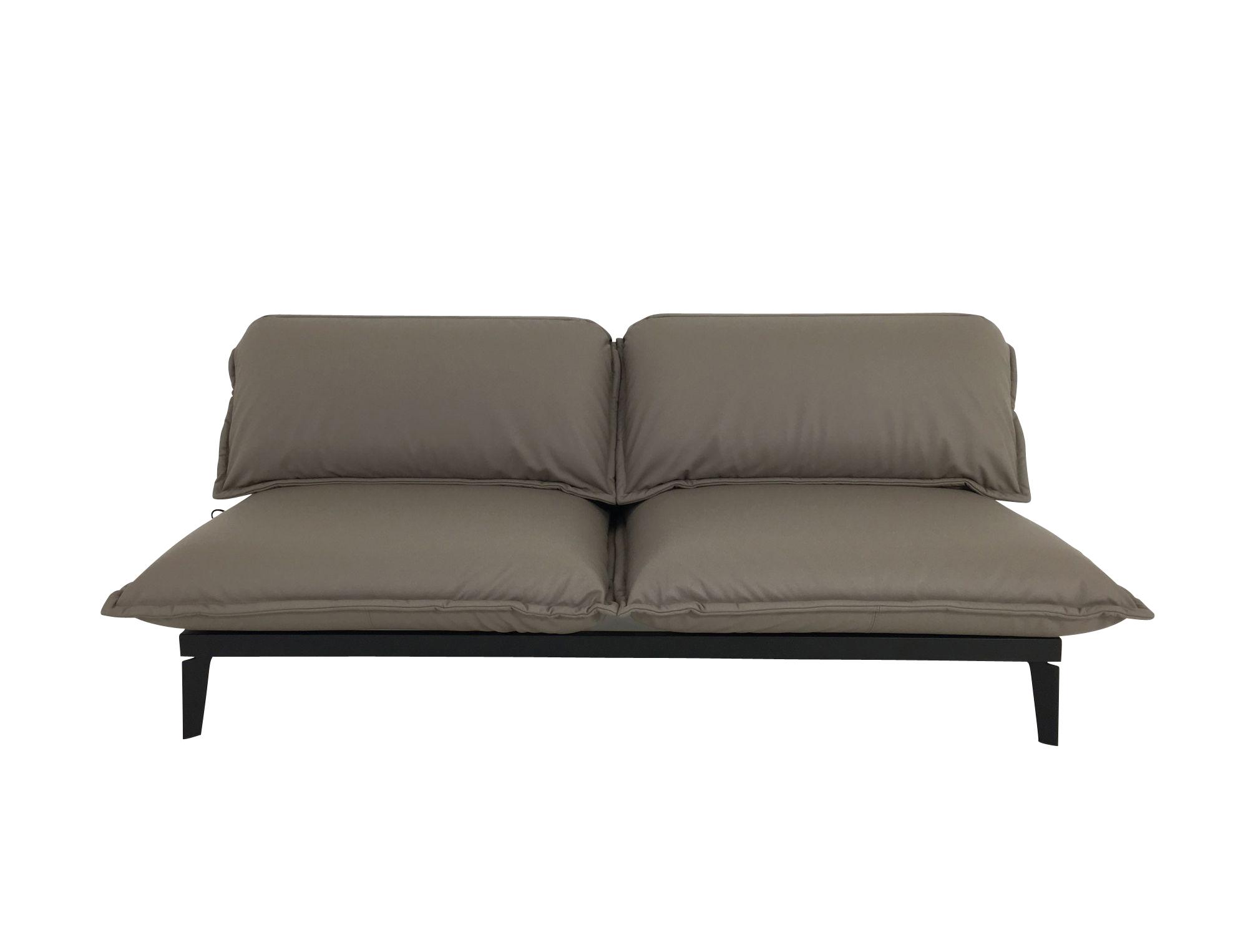 rolf benz nova sofa in leder taupe mit liegefunktion und. Black Bedroom Furniture Sets. Home Design Ideas