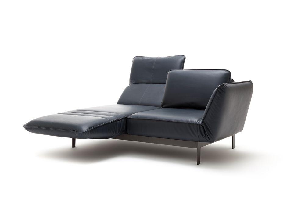 Rolf Benz Mera Sofa In Leder Mit Beidseitigen Drehsitzen