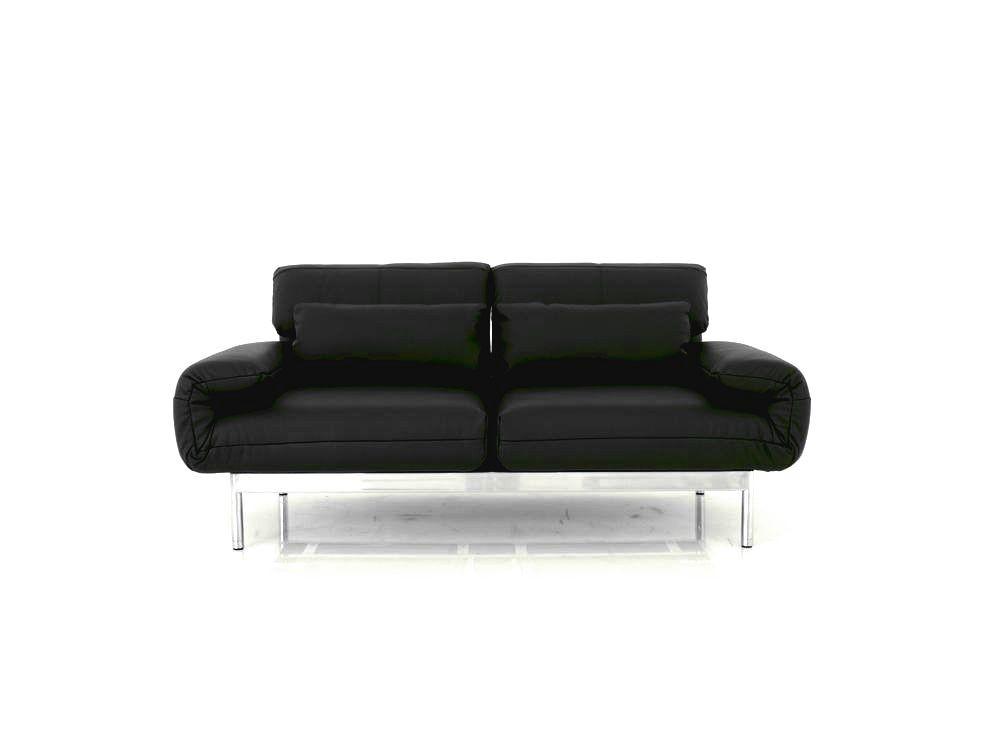 ROLF BENZ PLURA Sofa in schwarzen Leder und Chromfüßen im SONDERANGEBOT