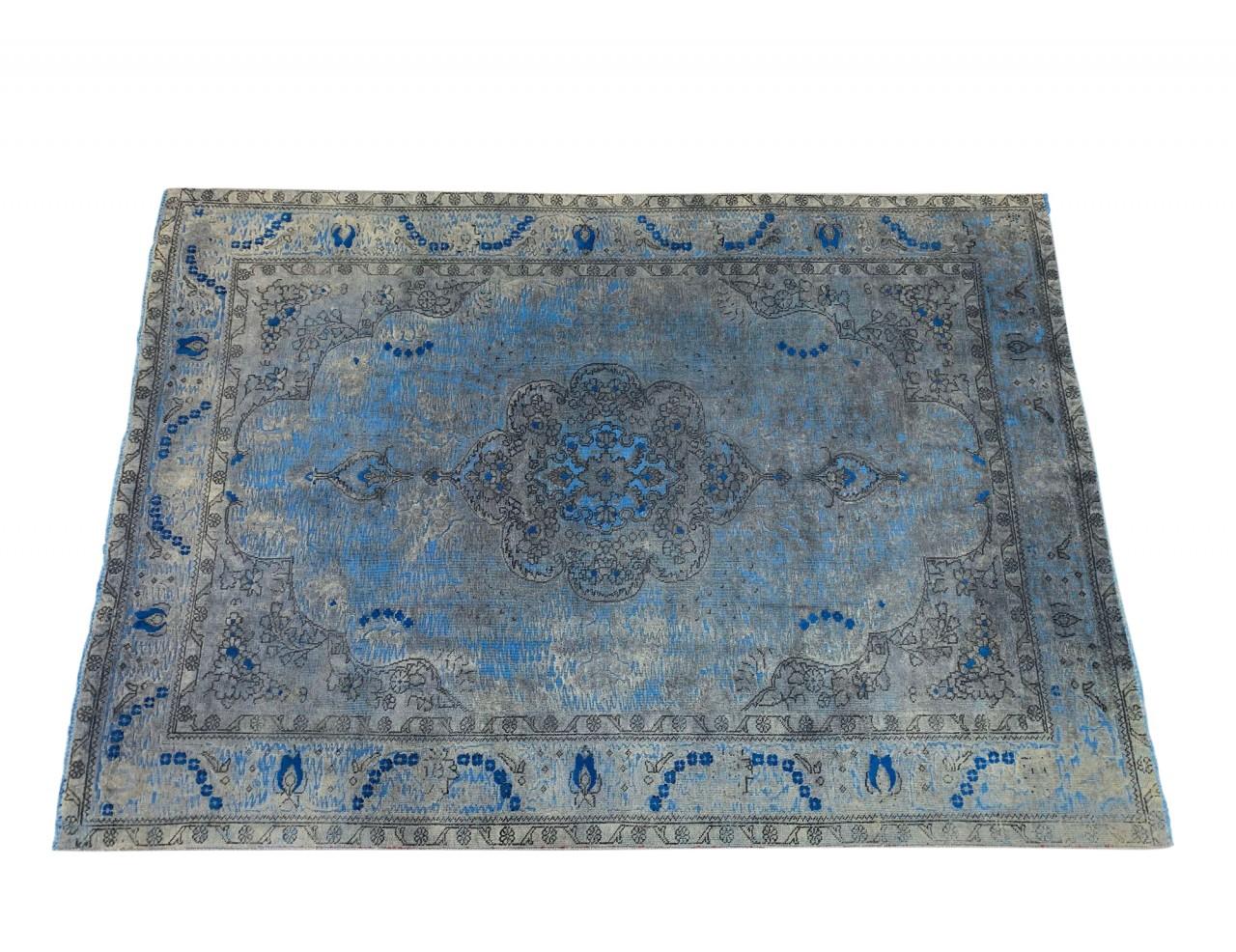 SARTORI IR KARMA I INTERO Vintage Teppich in wunderschönen blauen Akzenten Farbtönen 288 x 201 cm