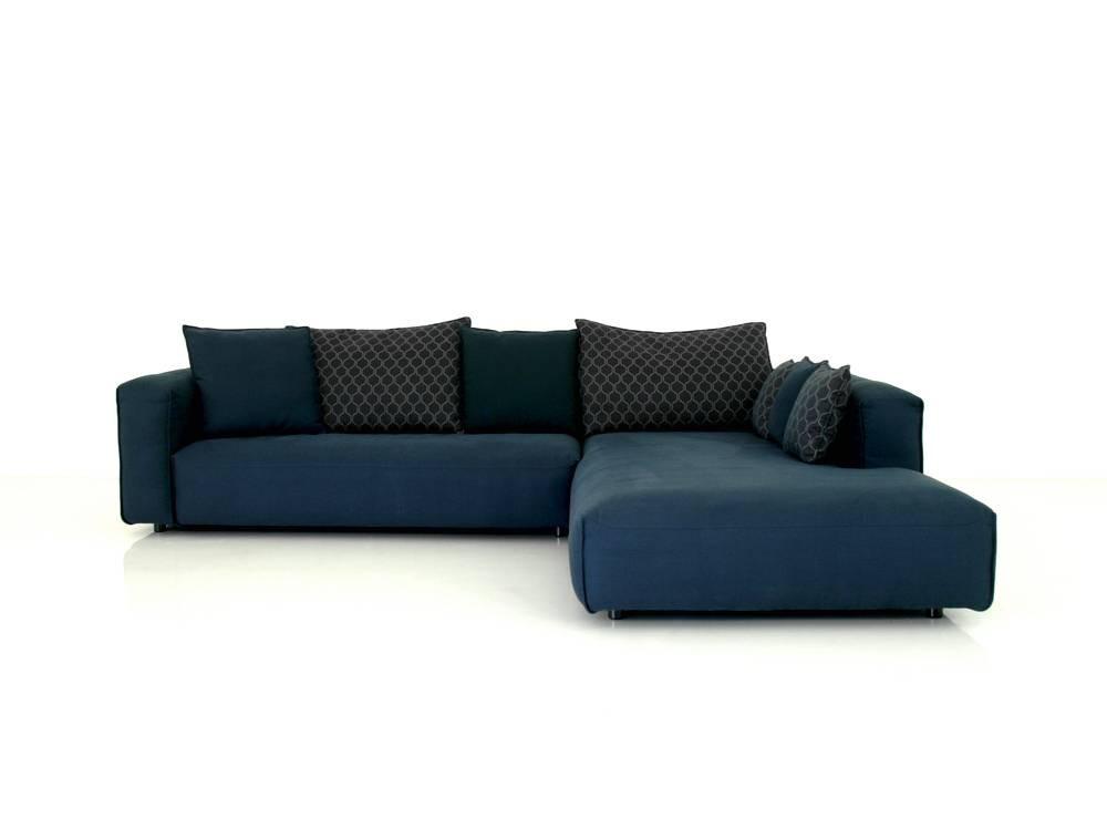 Rolf Benz MIO Lounge Garnitur im Stoff blau mit vielen Kuschelkissen