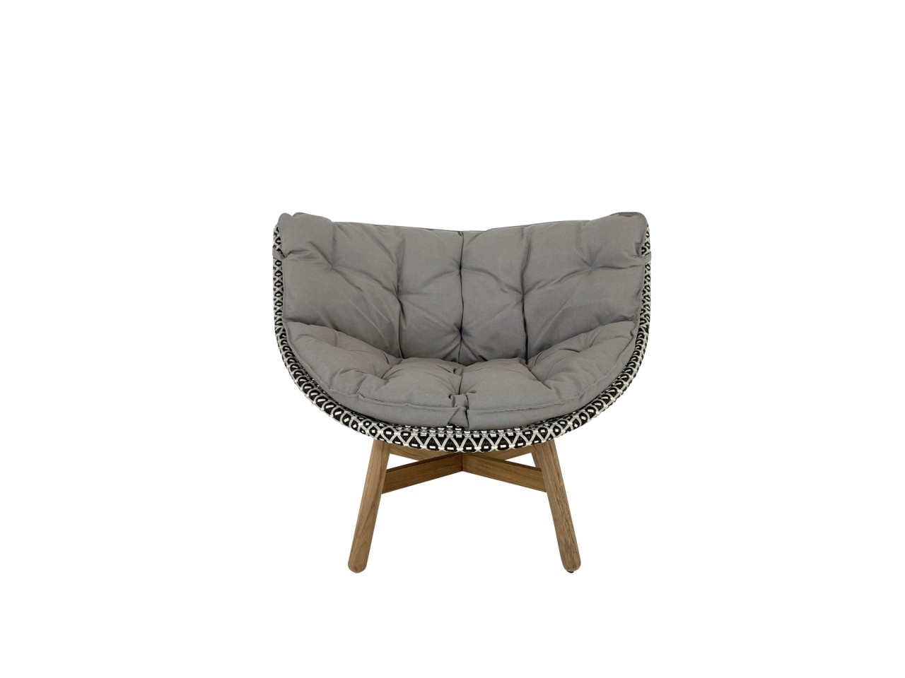 DEDON MBRACE LOUNGE CHAIR Sessel in pepper mit Polsterauflage in 452 cool taupe
