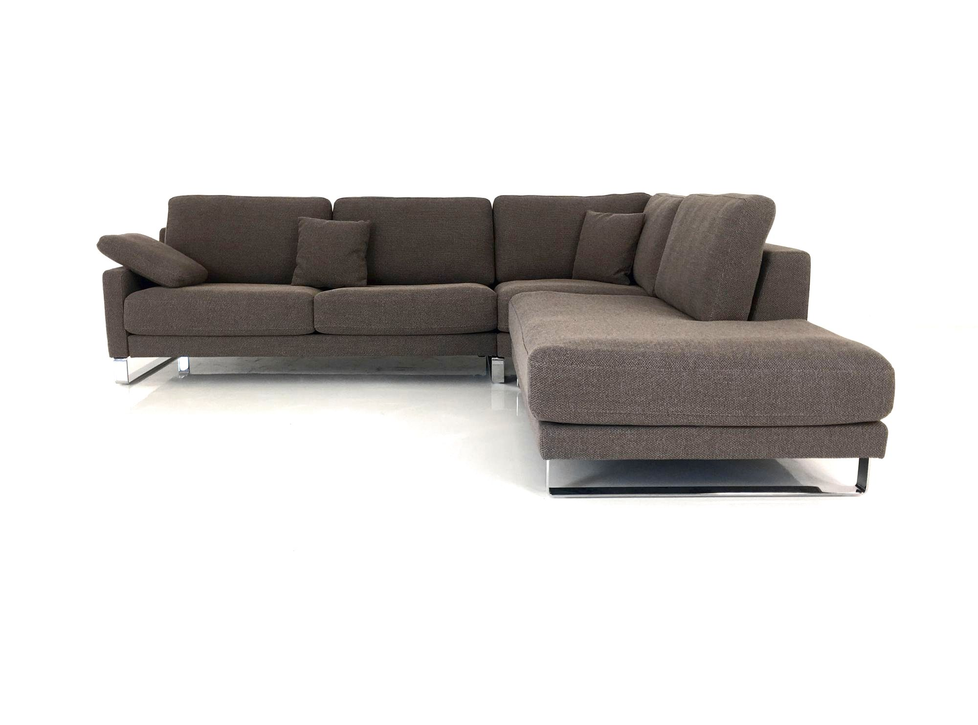 Rolf benz ego f ecksofa in stoff graubraun mit for Rolf benz essen