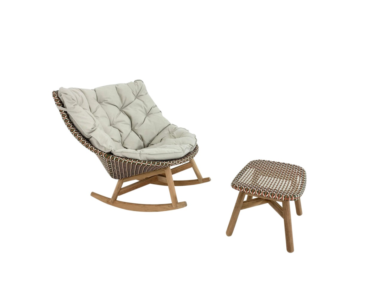 Dedon Mbrace Rocking Chair Schaukel Sessel In Chestnut Mit