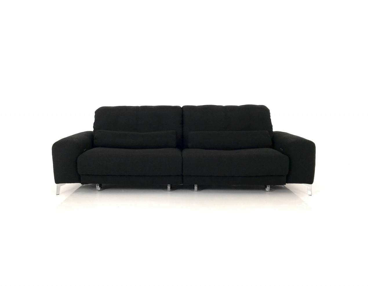 e schillig gladiola plus sofa mit beidseitigen motorsitzvorzug in stoff farbe 25 black. Black Bedroom Furniture Sets. Home Design Ideas