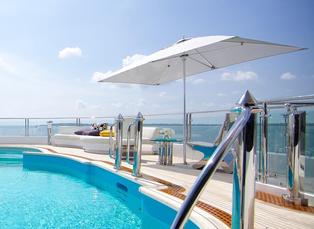 Tuuci Ocean Master Classic schwarzer 245 x 365 cm Rechteck-Sonnenschirm inkl. Ständer und Husse