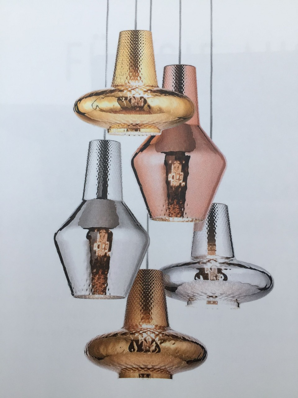 Zafferano Romeo & Giulietta Deckenleuchte mit 5 Murano Glasschirmen