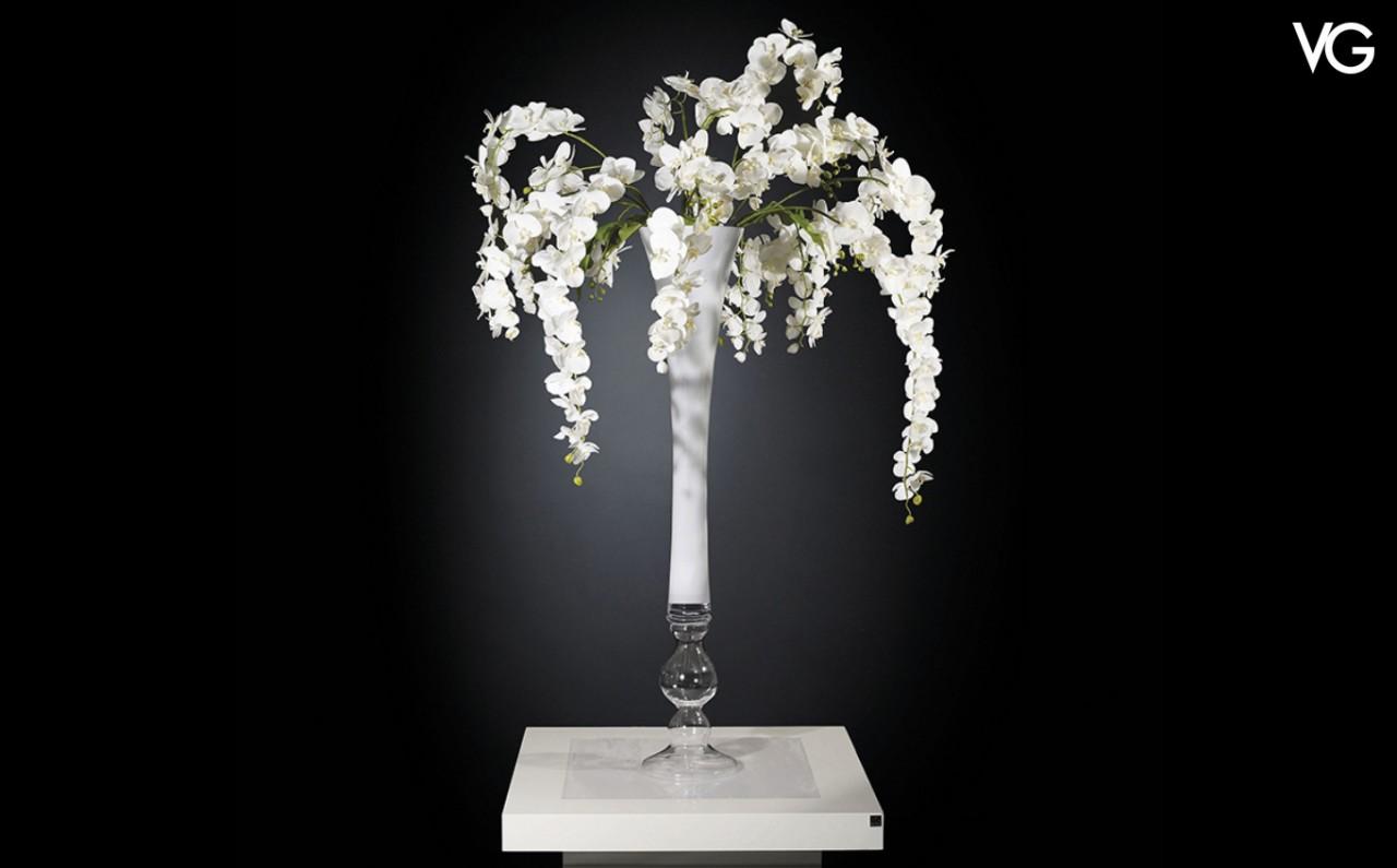 VG Madame Butterfly weißes Orchideen Arrangement