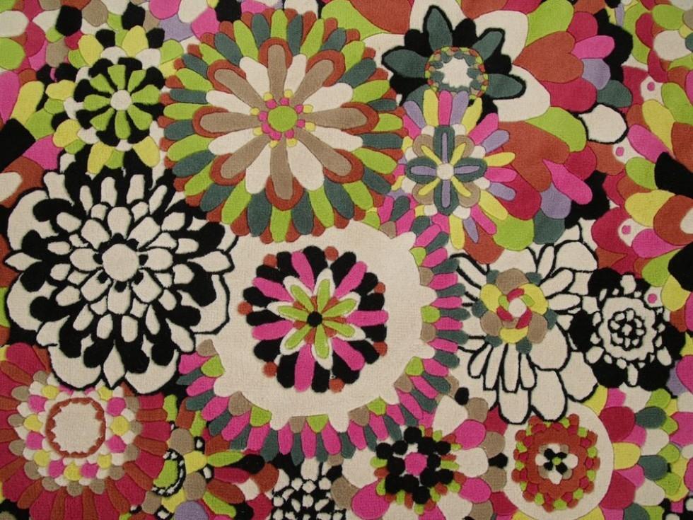 MISSONI HOME FLEURY NEW Teppich mit bunten Blumen