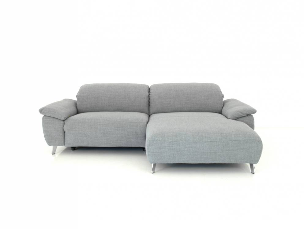Ewald Schillig Brand Hope Longchair Sofa In Grauen Stoff