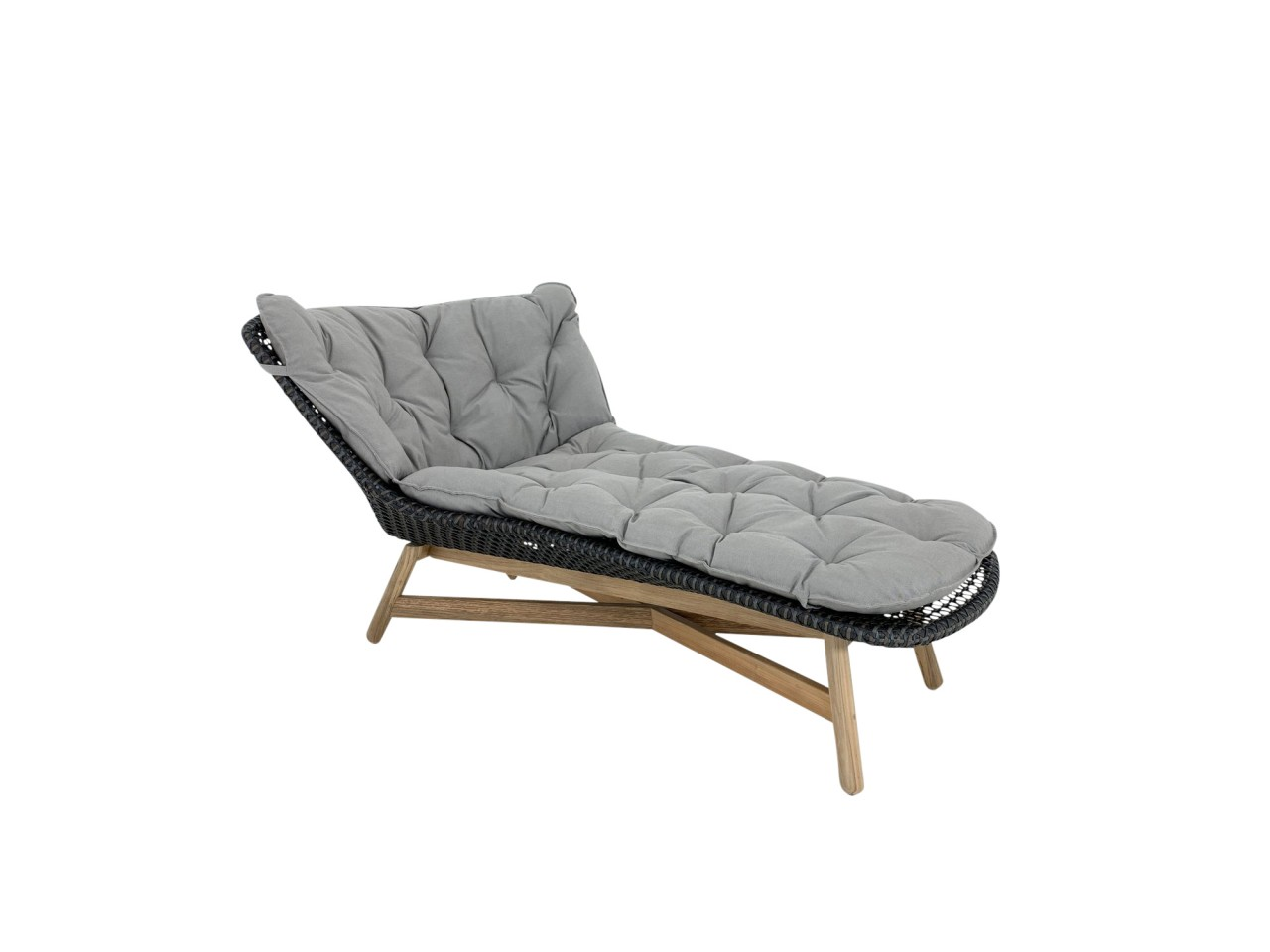 Dedon MBRACE Daybed Liege in der Farbe arabica mit Polsterauflage in cool taupe
