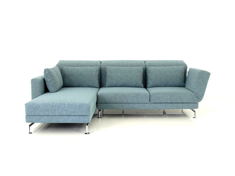 Br Hl Moule Medium Sofa Mit Recamiere In Stoff Blaugrau