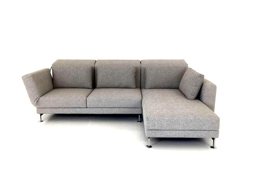 Brühl MOULE Sofa mit Recamiere im graubeigen Stoff zum Sonderpreis