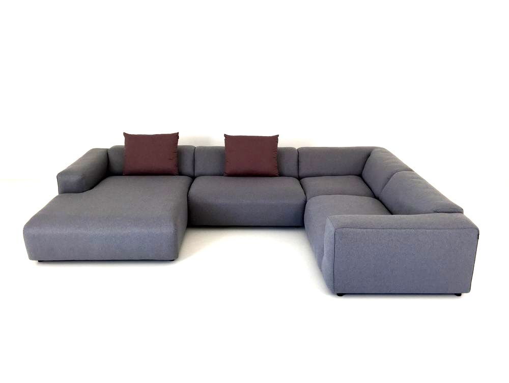 Freistil 187 Rolf Benz Sofa Mit Recamiere In U Form In Stoff