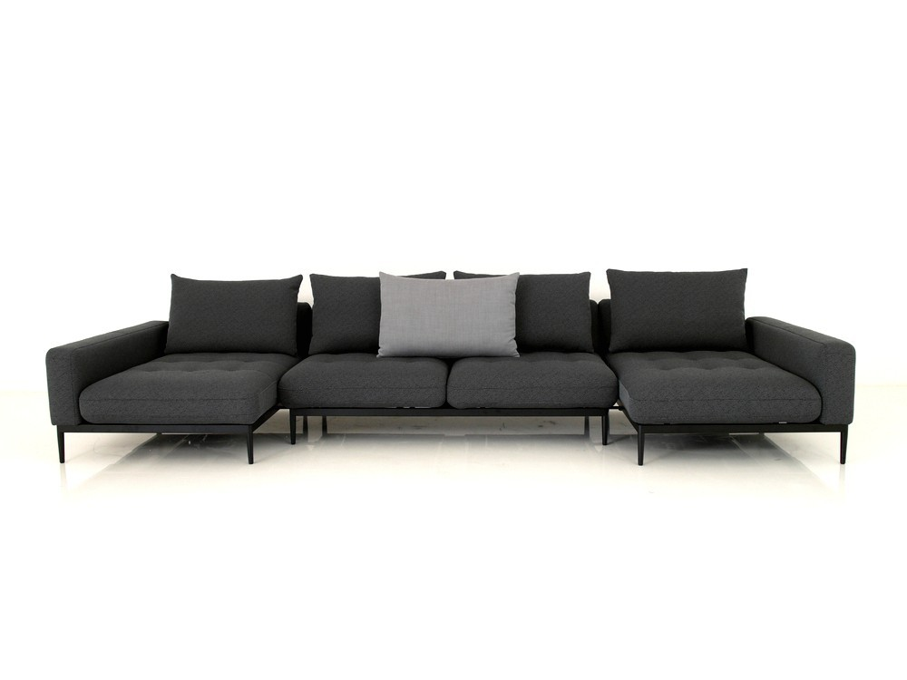 rolf benz tira xxl lounge garnitur mit zwei longchairs mit. Black Bedroom Furniture Sets. Home Design Ideas