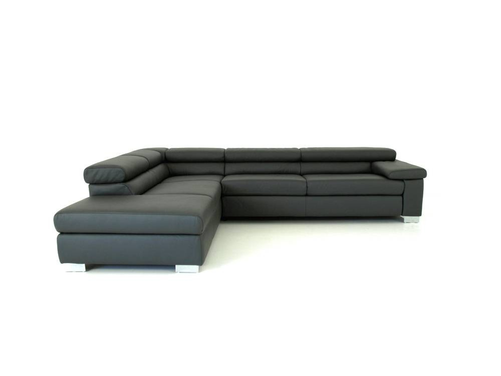 ewald schillig brand courage sofa in grauen leder mit. Black Bedroom Furniture Sets. Home Design Ideas