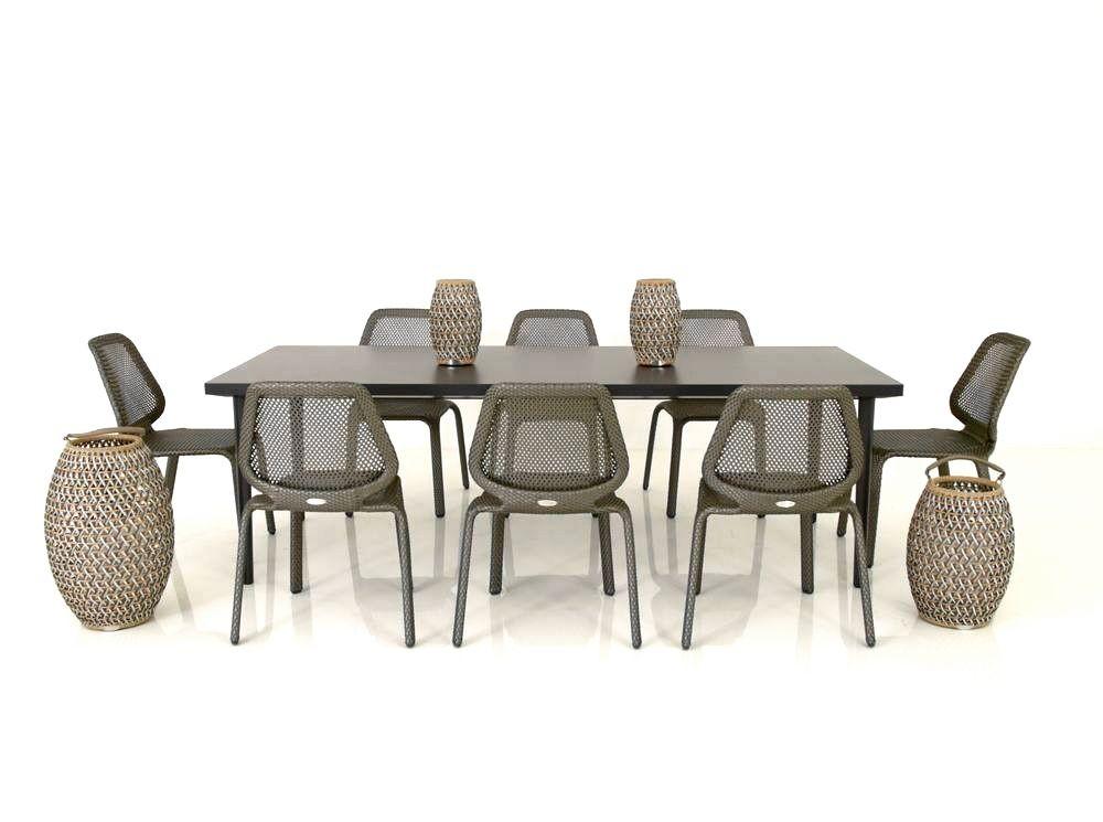 dedon outdoor essplatz mit 8 seashell st hlen und pontoon. Black Bedroom Furniture Sets. Home Design Ideas