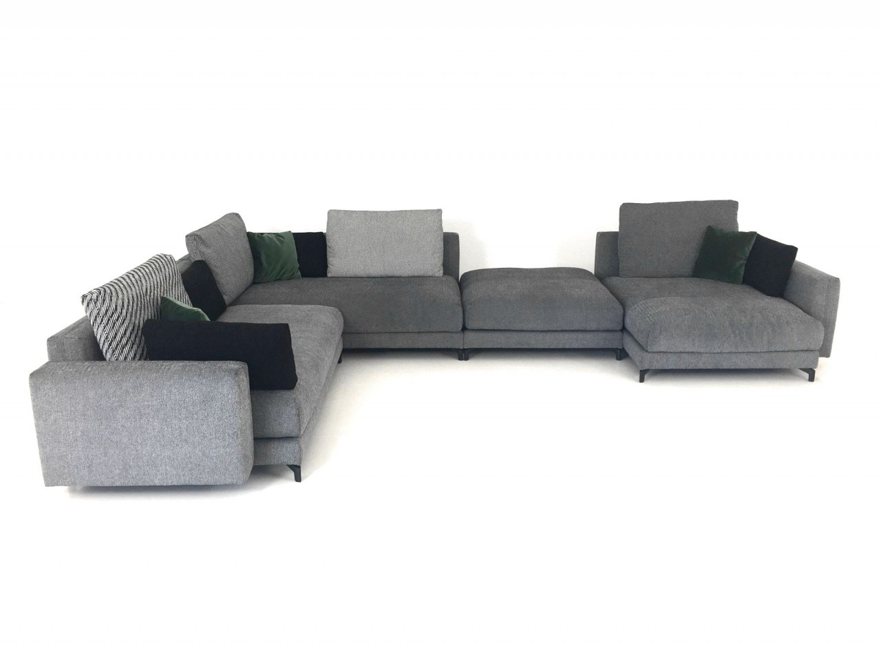rolf benz nuvola xxl ecksofa im naturstoff schwarz weiss. Black Bedroom Furniture Sets. Home Design Ideas