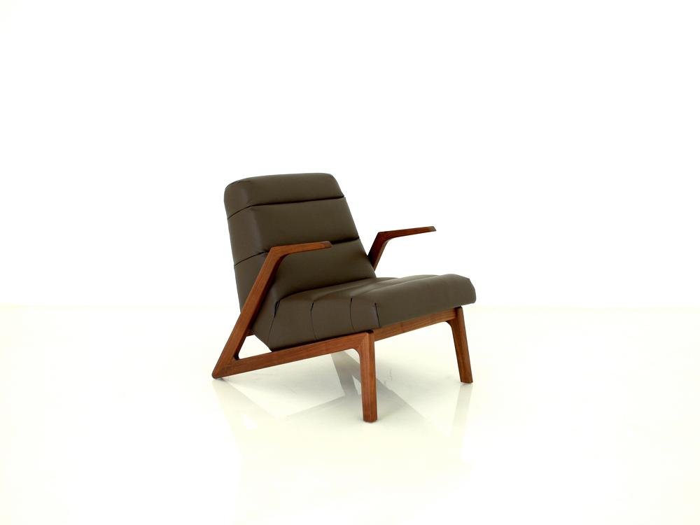 Rolf Benz 580 Sessel Mit Nussbaum Gestell Und Leder