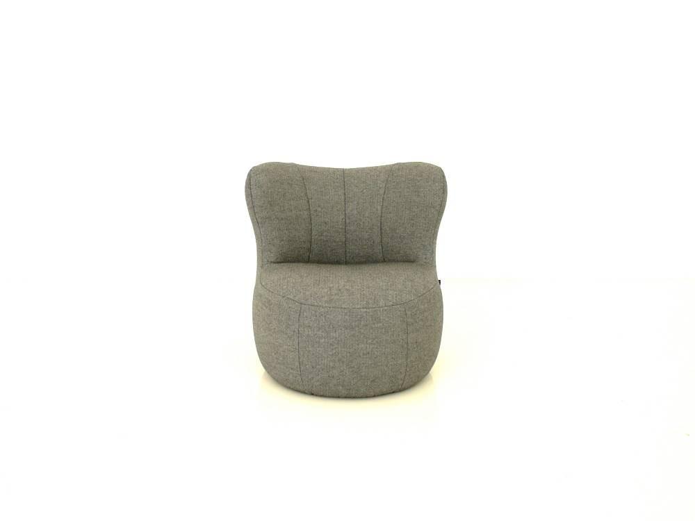 freistil 173 Rolf Benz Sessel im steingrauen Wollstoff aus der Gummibärenbande