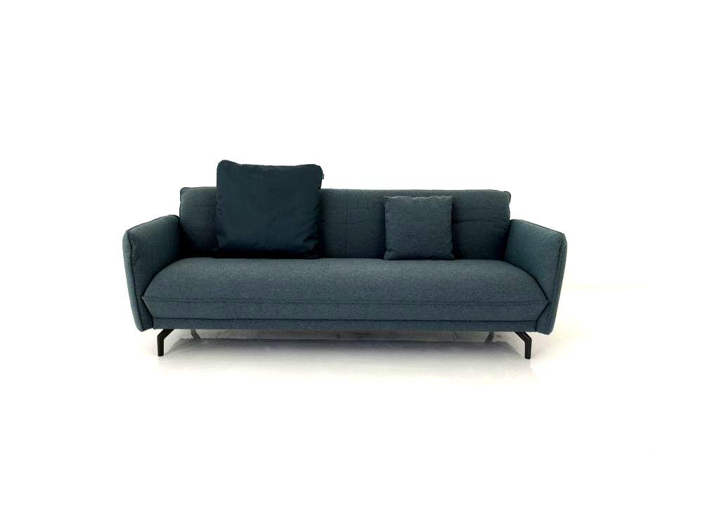 Hülsta Sofa hs 430 Sofa in Stoff Jil wasserblau Designer Sofas Sofas