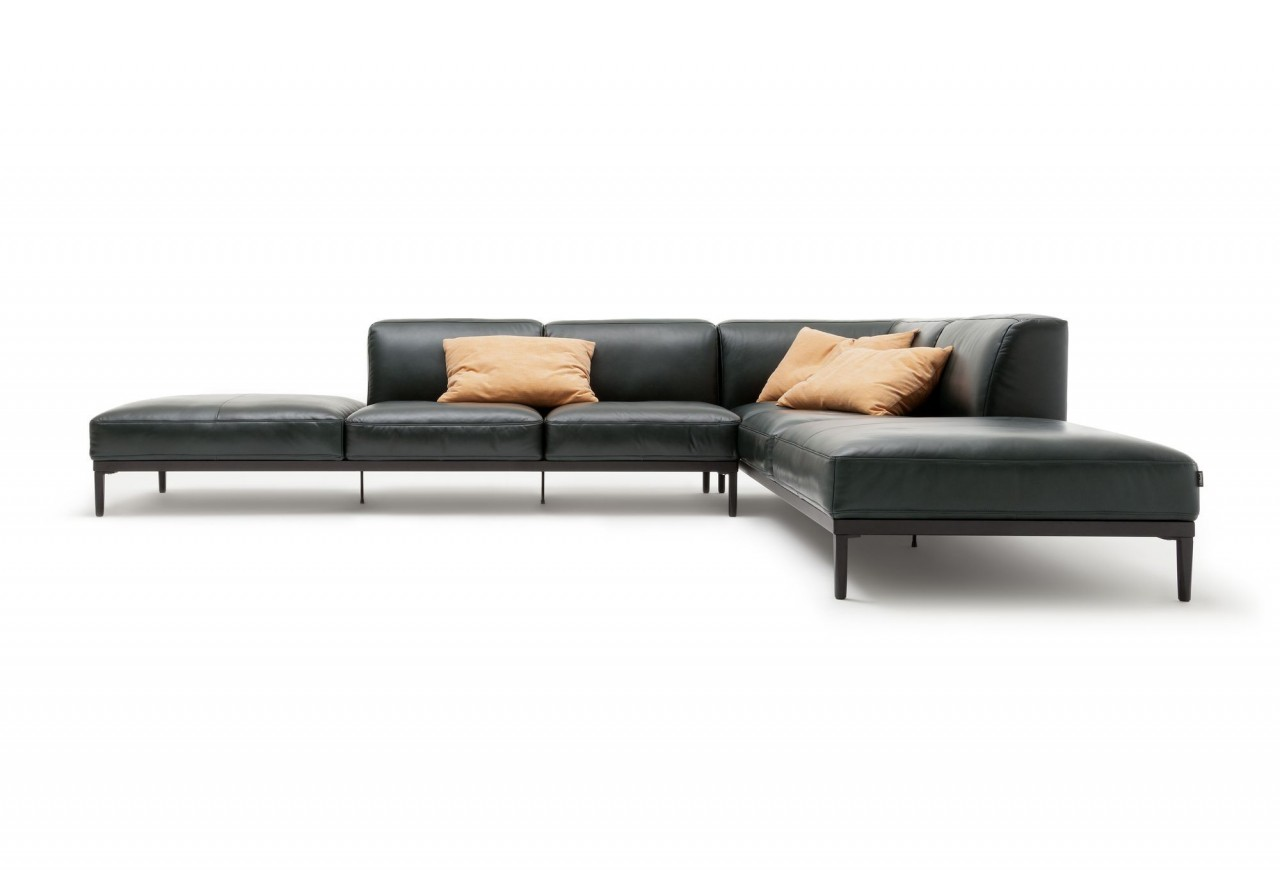 freistil 167 rolf benz xl ecksofa im naturbelassenen leder. Black Bedroom Furniture Sets. Home Design Ideas