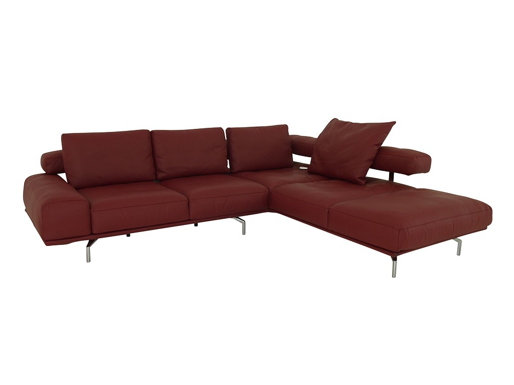 ewald schillig brand shine ecksofa mit sitzvorzug und sitzheizung in leder bordeaux ewald. Black Bedroom Furniture Sets. Home Design Ideas