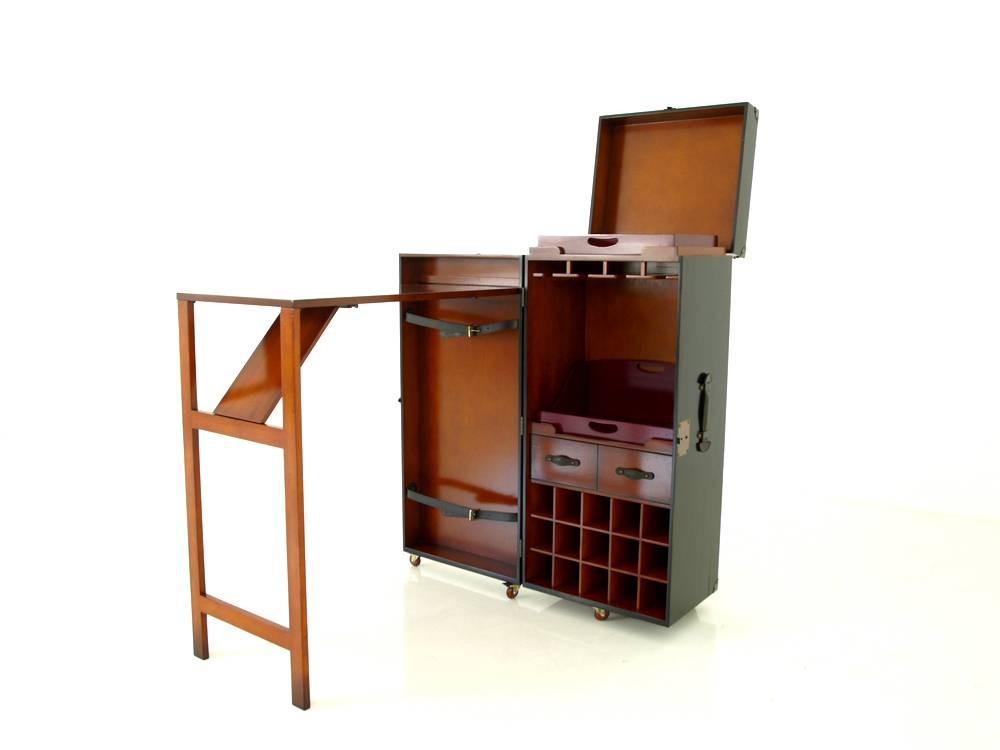authentic models mf134 grand lounge trunk bar koffer mit klapptisch als wohnraum schrank nach. Black Bedroom Furniture Sets. Home Design Ideas
