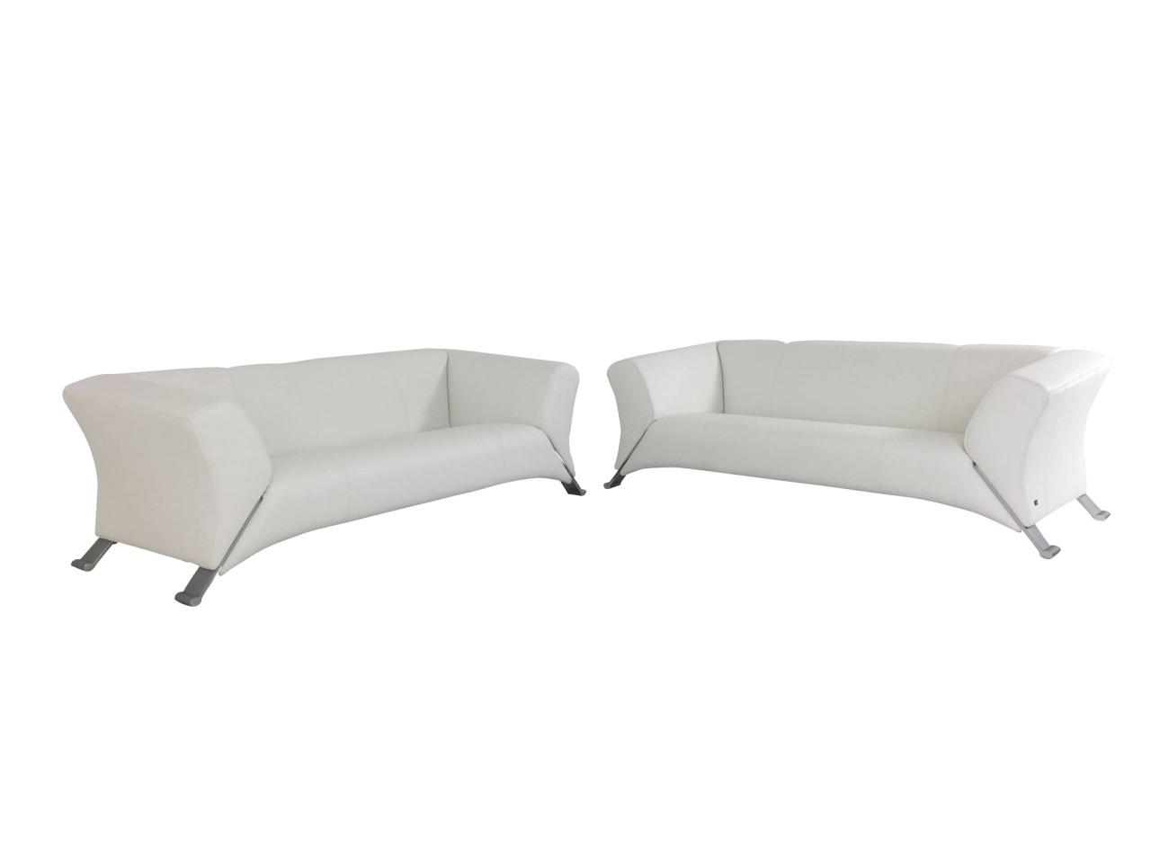 ROLF BENZ 322 Sofa Garnitur Design Klassiker im Set in Nappa Leder weiß