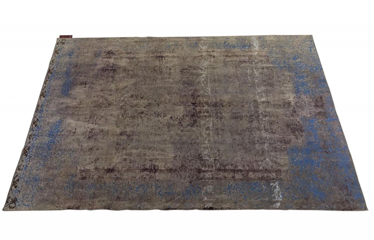 SARTORI ENTIRE KARMA I Vintage Teppich in wunderschönen Erdtönen mit blauen Accenten Farbtönen 298 x