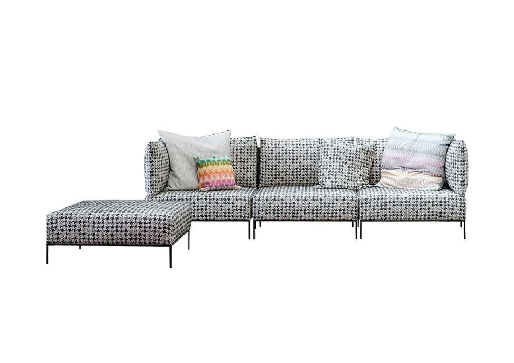 MISSONI HOME ADAR Sofa mit Hocker in Stoff Realeza