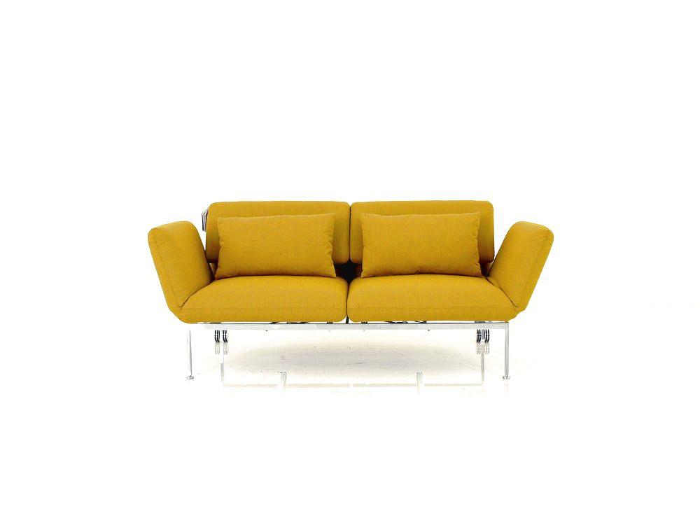 Brühl RORO medium Sofa in curryfarbigen Stoff mit Rollen