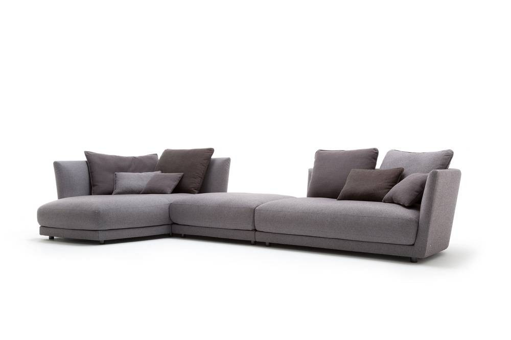 rolf benz tondo ecksofa de luxe im grauen stoff rolf. Black Bedroom Furniture Sets. Home Design Ideas