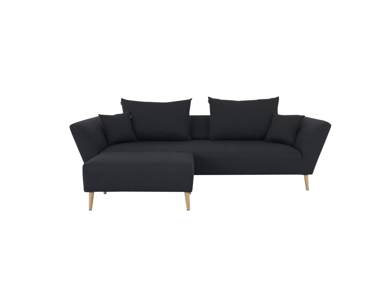 freistil 176 sofa mit polsterbank und kissen in stoff schwarzgrau zum sonderpreis freistil 176. Black Bedroom Furniture Sets. Home Design Ideas