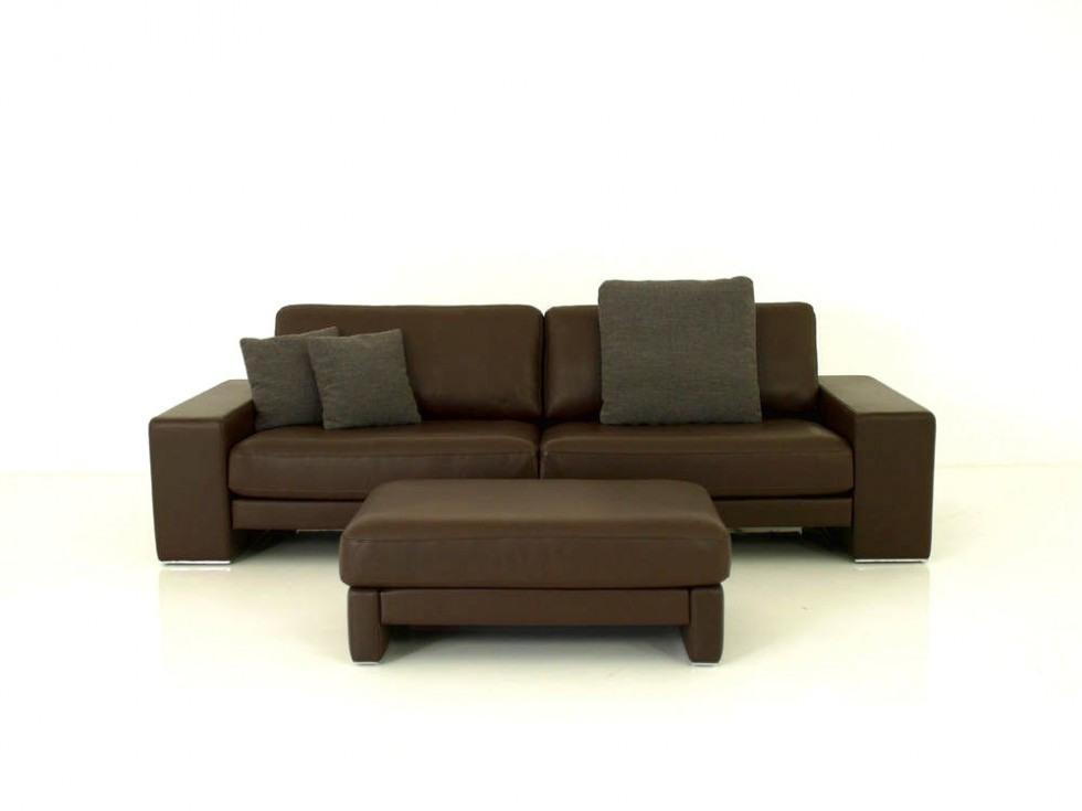 Rolf benz ego g sofa mit passenden hocker in nappaleder for Rolf benz essen
