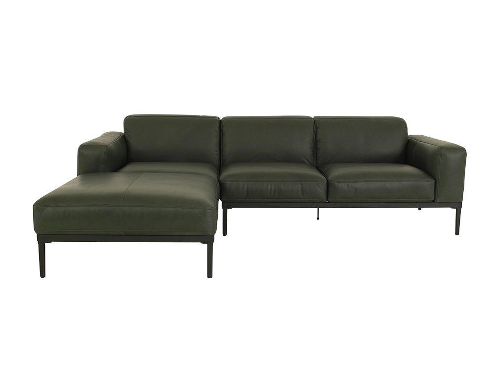 freistil 167 rolf benz sofa mit longchair links im naturbelassenen leder flaschengr n freistil. Black Bedroom Furniture Sets. Home Design Ideas