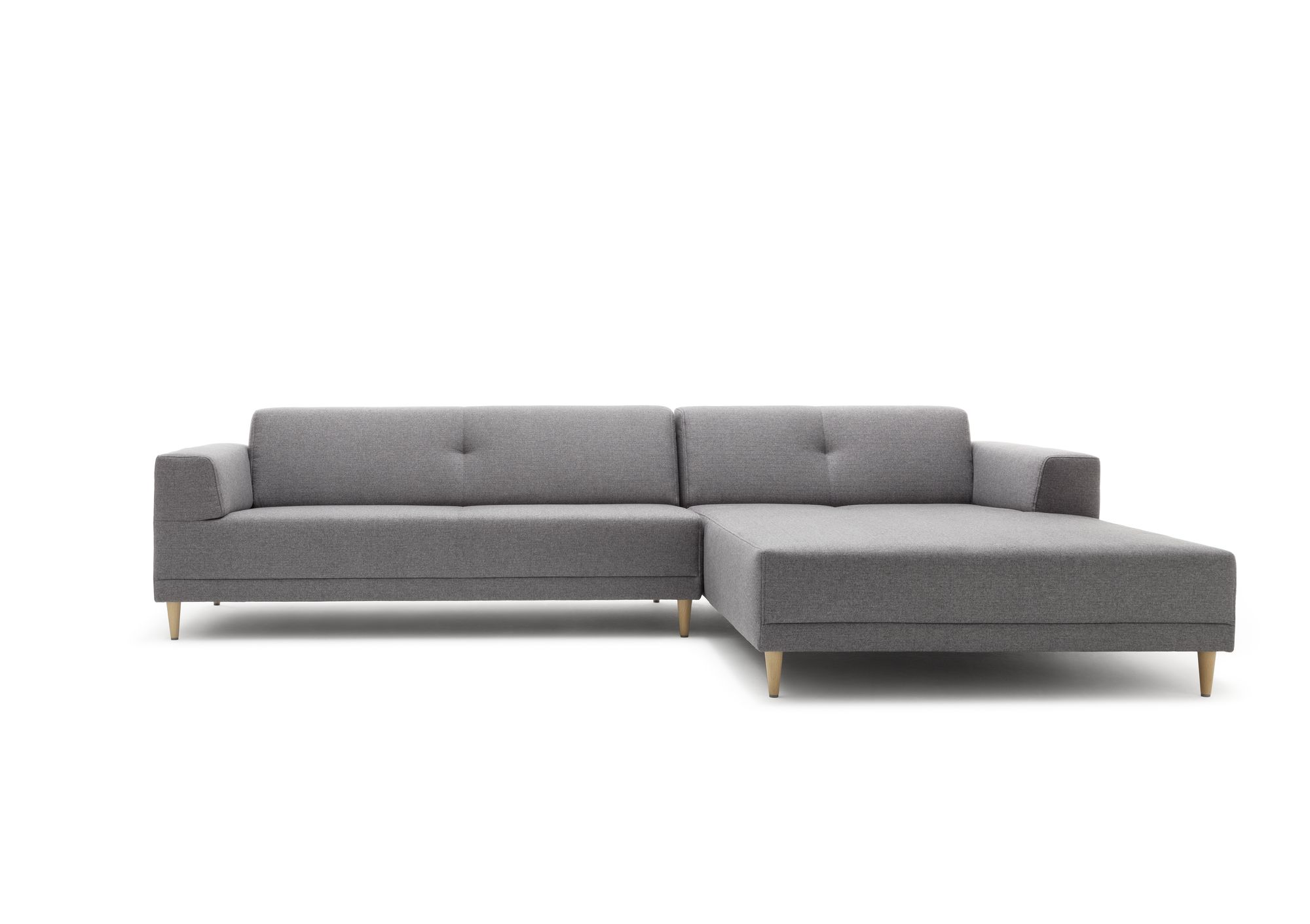 Freistil 189 rolf benz sofa mit recamiere in stoff for Rolf benz essen