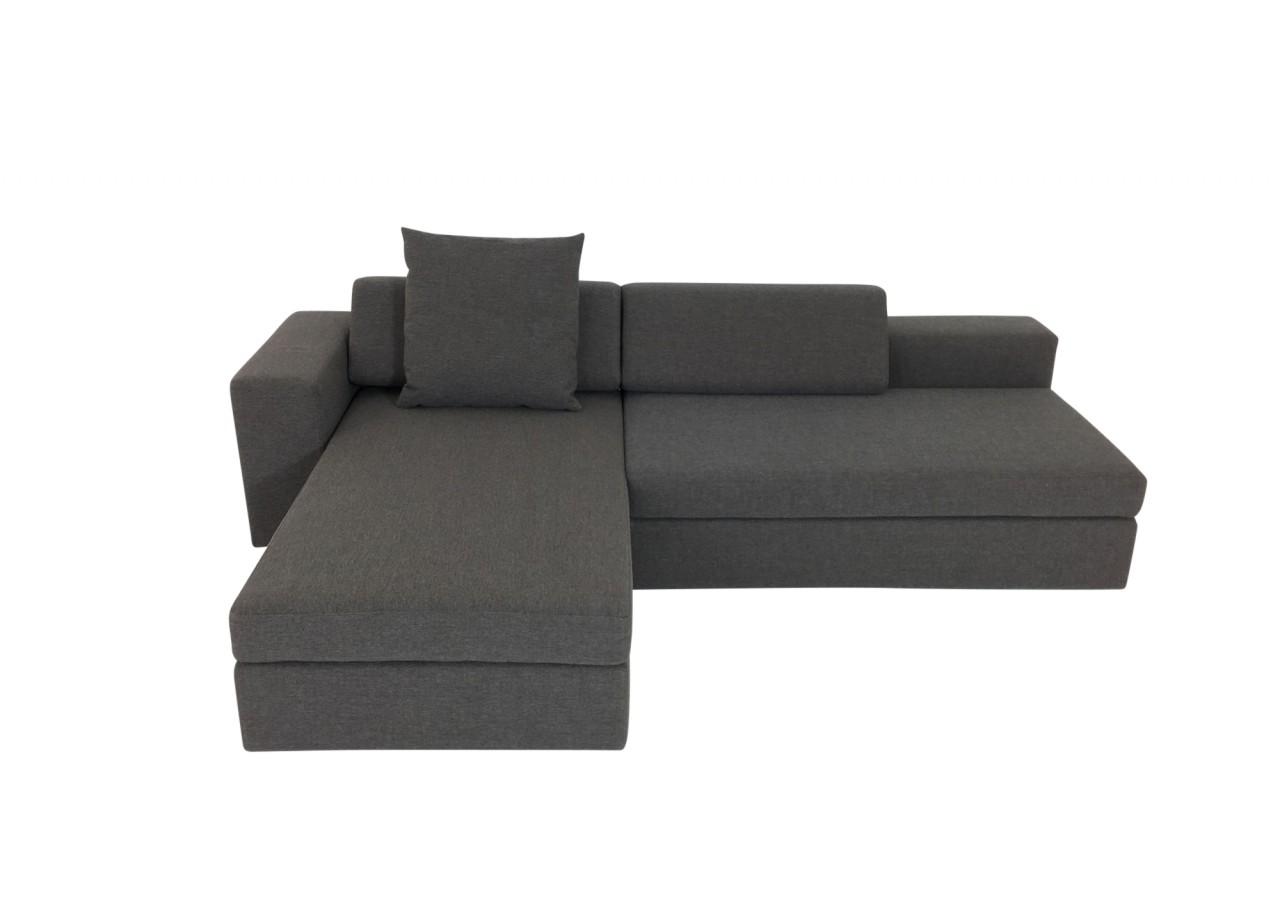 br hl clip sofa mit recamiere und drehfunktion zum doppelbett in stoff dunkelgrau br hl. Black Bedroom Furniture Sets. Home Design Ideas