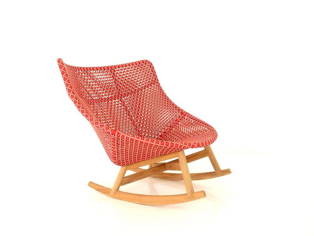 DEDON MBRACE ROCKING CHAIR Schaukel Stuhl in der Farbe spice
