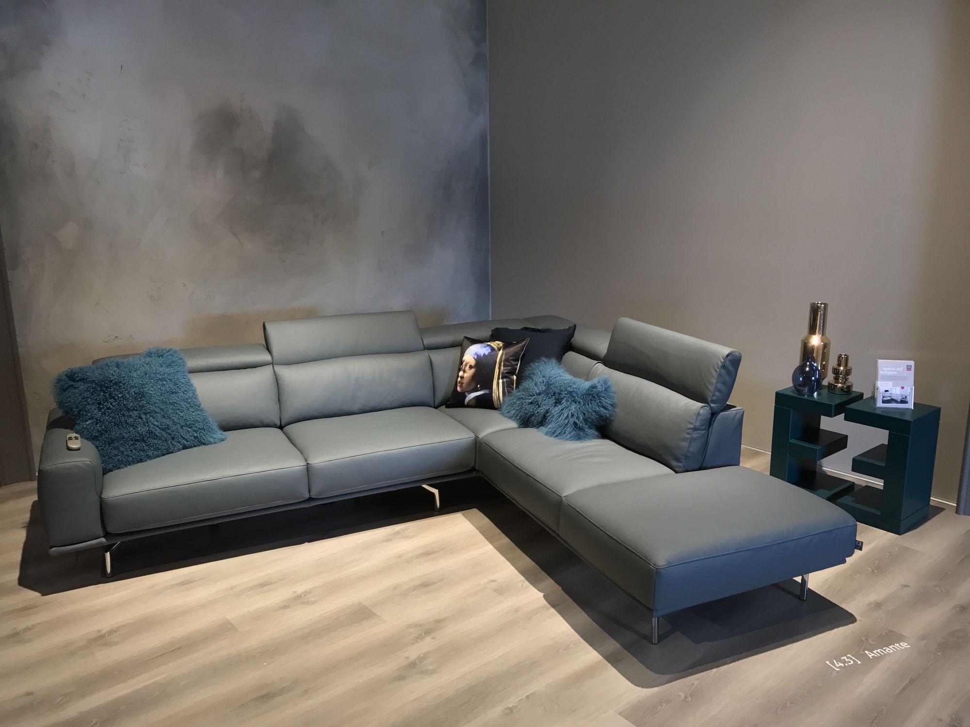 ewald schillig brand amante ecksofa mit mot auszug und kopfteillehnen im leder l140 in. Black Bedroom Furniture Sets. Home Design Ideas