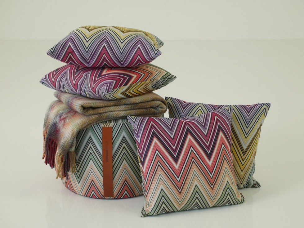 MISSONI HOME KEW & MONTGOMERY Kissen, Plaid und Hocker Set