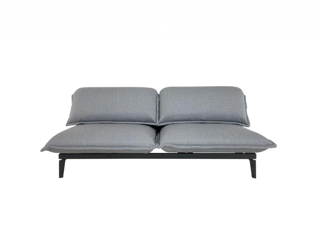 ROLF BENZ NOVA Sofa - das Entspannungssofa im edlen, basaltgrauen Schurwollstoff