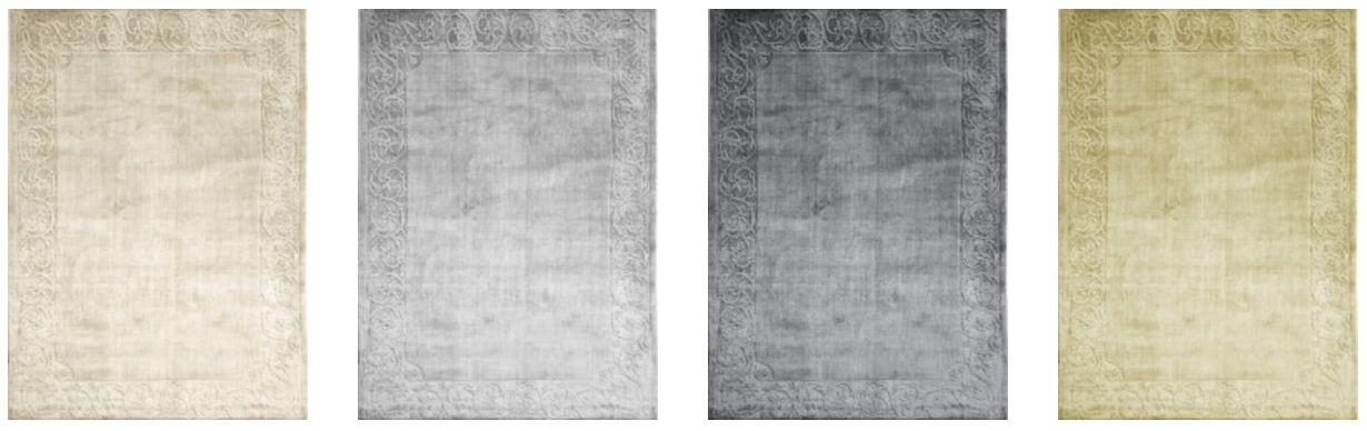 SARTORI SAN MARCO Teppich in offwhite grau und beige Farbtönen 230 x 180 cm