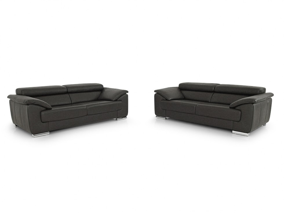 E.Schillig brand BLUES Sofa Set im Dickleder espresso
