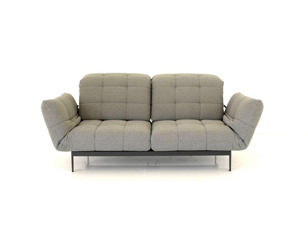 Rolf benz agio sofa in beigegrauen stoff mit drehsitzen for Markensofas outlet