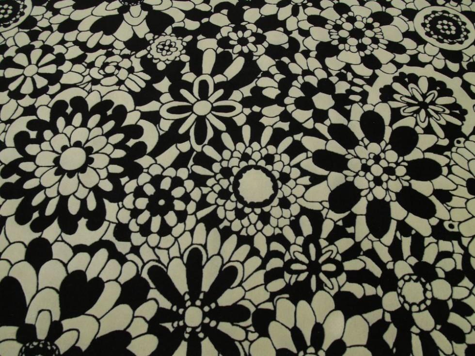 MISSONI HOME FLEURY NEW B&N Teppich in schwarz und weiß
