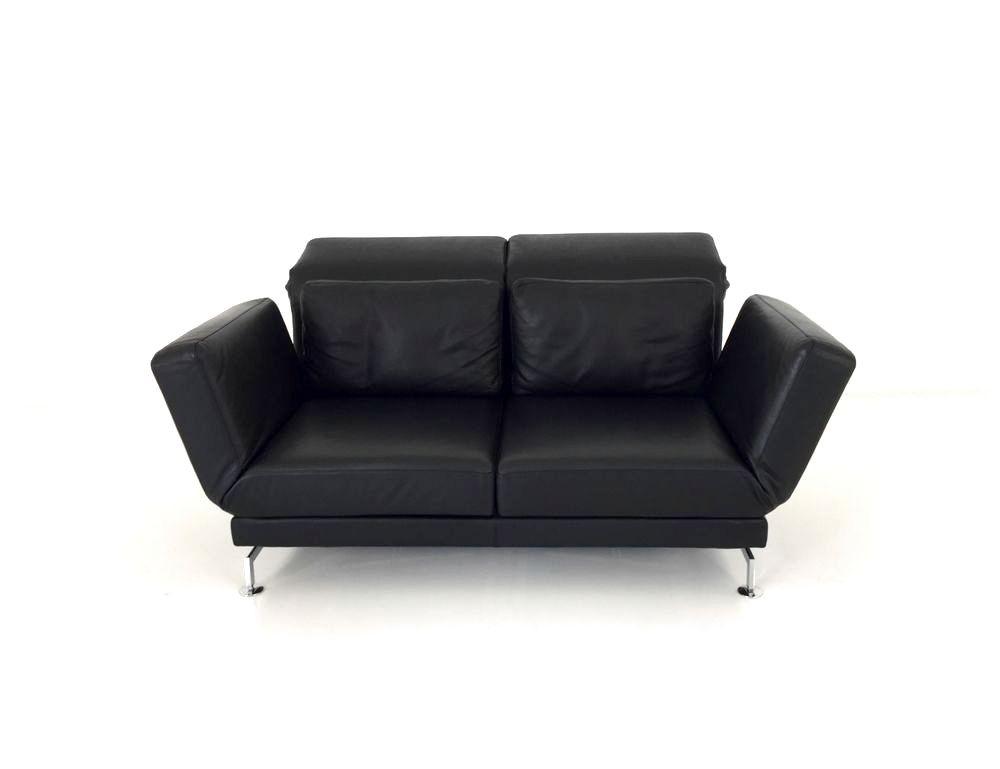 Brühl MOULE MEDIUM Sofa 2 mit Drehsitzen im feinen Pearl Leder schwarz